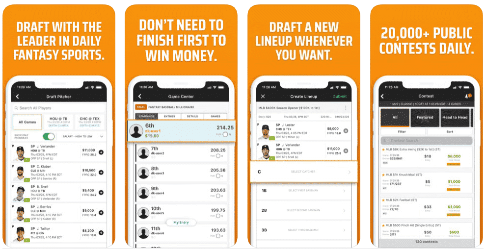 draftkings mobile ios android