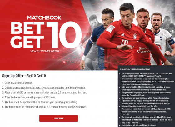 matchbook 2021 sign up offer
