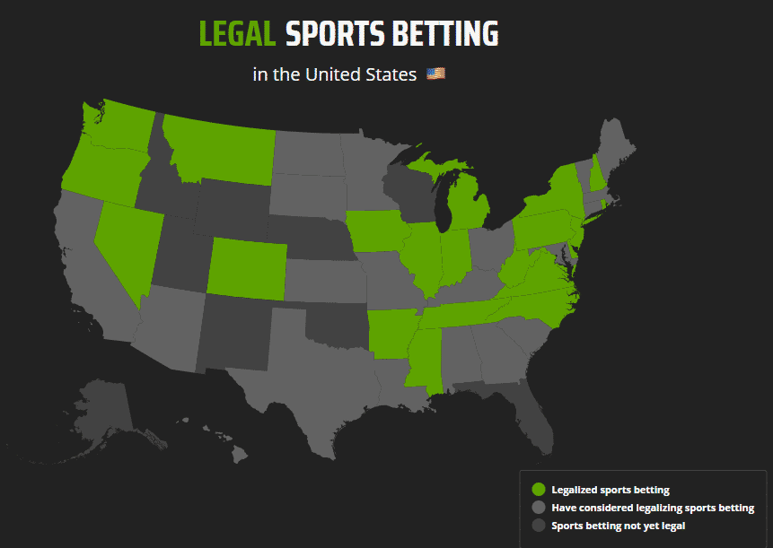 draftkings legal states
