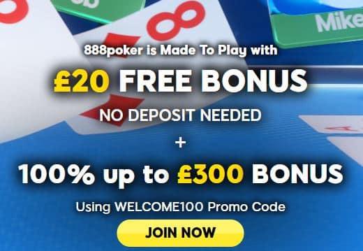 888 poker sign up offer