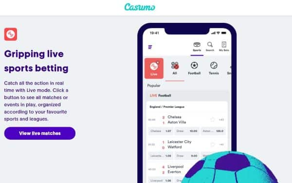 Casumo live sports betting online