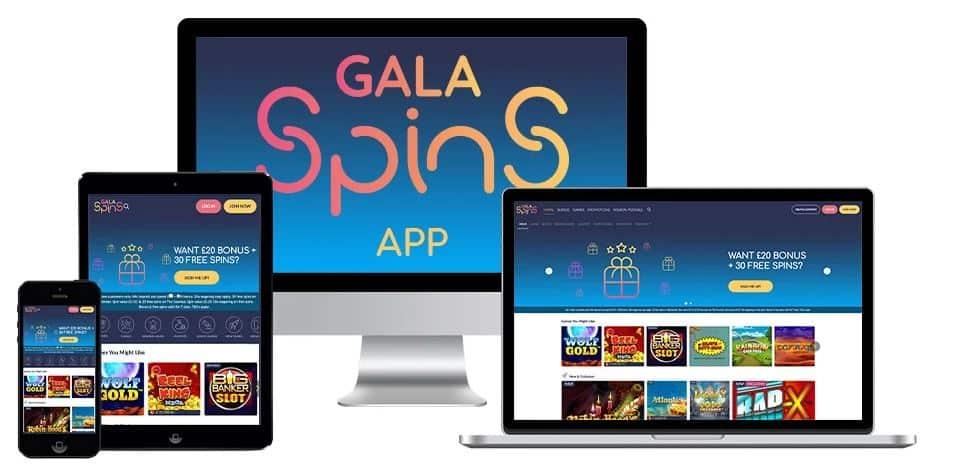 Gala Spins mobile app