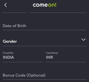 Comeon bonus code