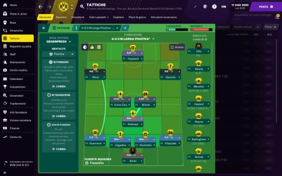Football Manager: taktik och formation