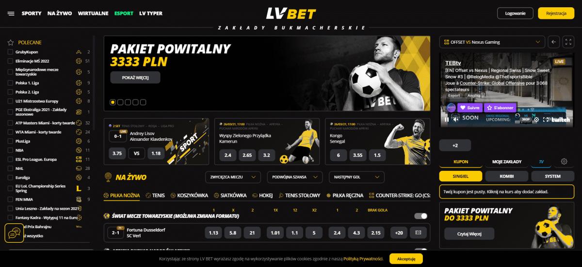 LVBET Kod Promocyjny 2021 - 3403 zł w tym darmowy zakład