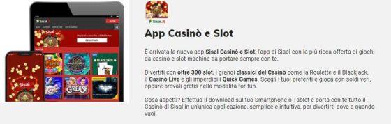 Codice Promozionale Sisal: App Casino
