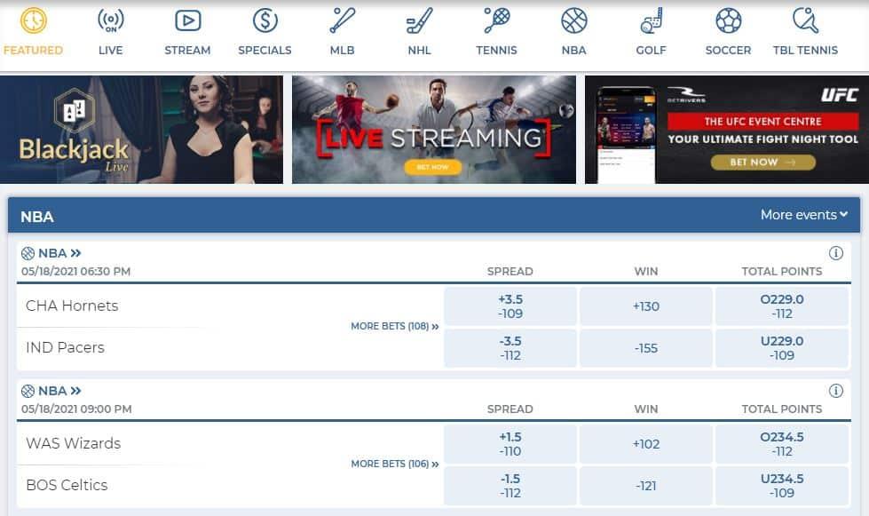 betrivers sportsbook betting