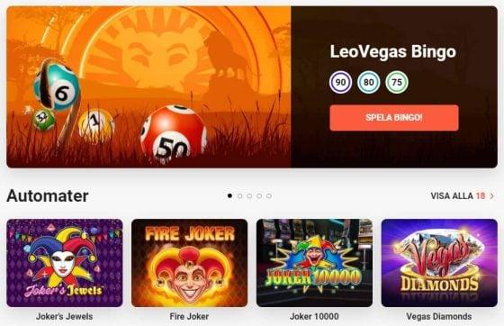 LeoVegas Bonus på mobil