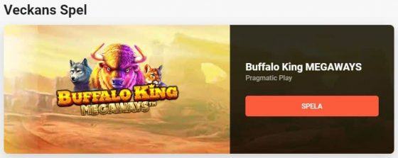 LeoVegas Bonus: Veckans Spel