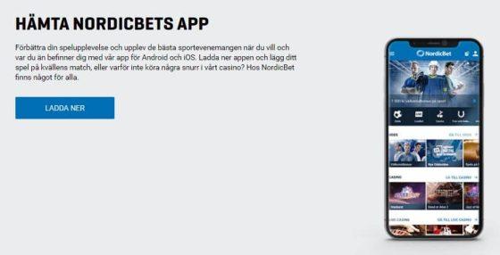 NordicBet Bonus: App
