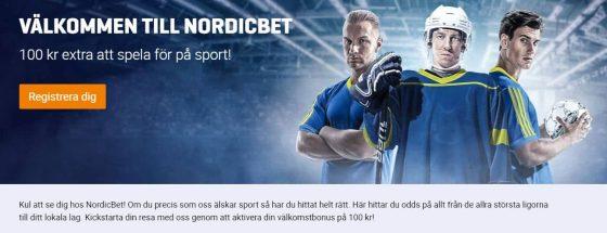 NordicBet Bonus - Sport