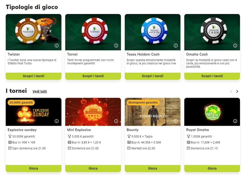Codice Promozionale Sisal: Poker