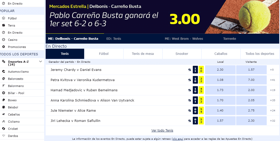 El código promocional William Hill