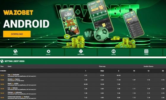 Wazobet promocode: Sports odds
