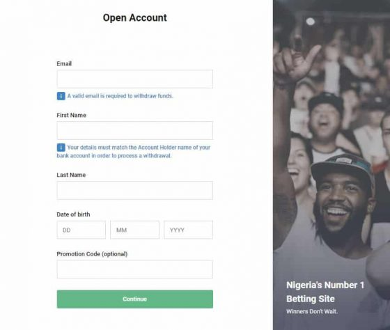 Registering with the Bet9ja Promotion Code