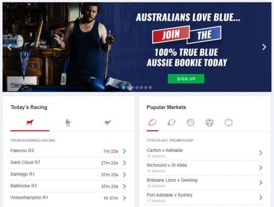 Available betting options with a Bluebet promo code