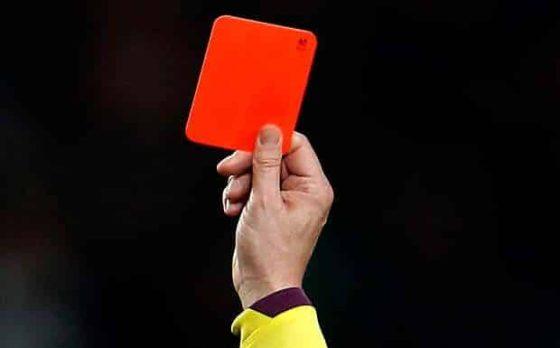 premier league red cards