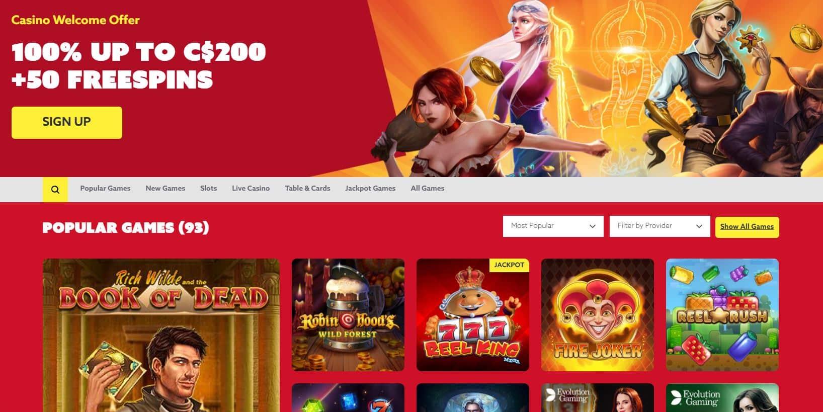 Funbet Review: Casino