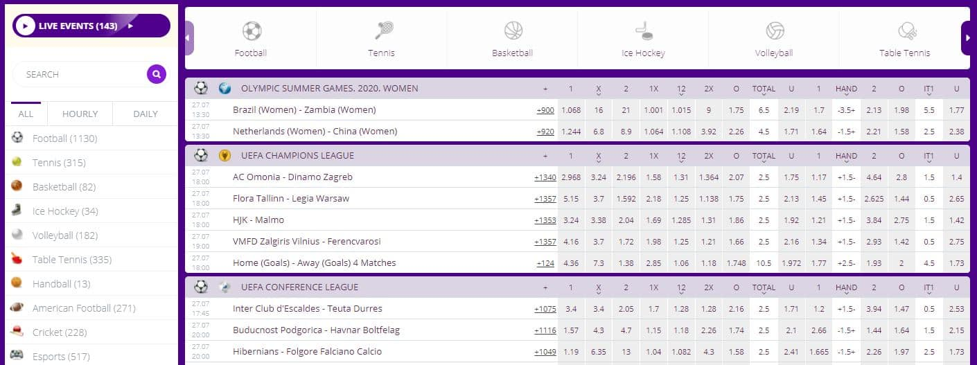 Helabet promo code: Sports betting