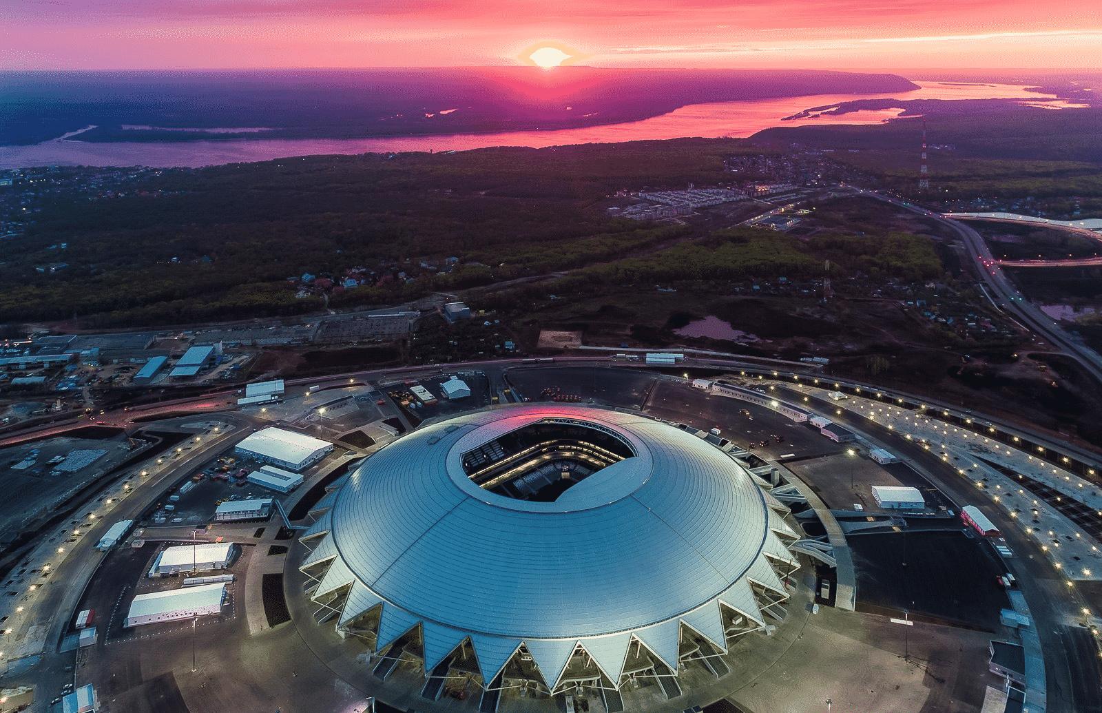 лучшие стадионы россии