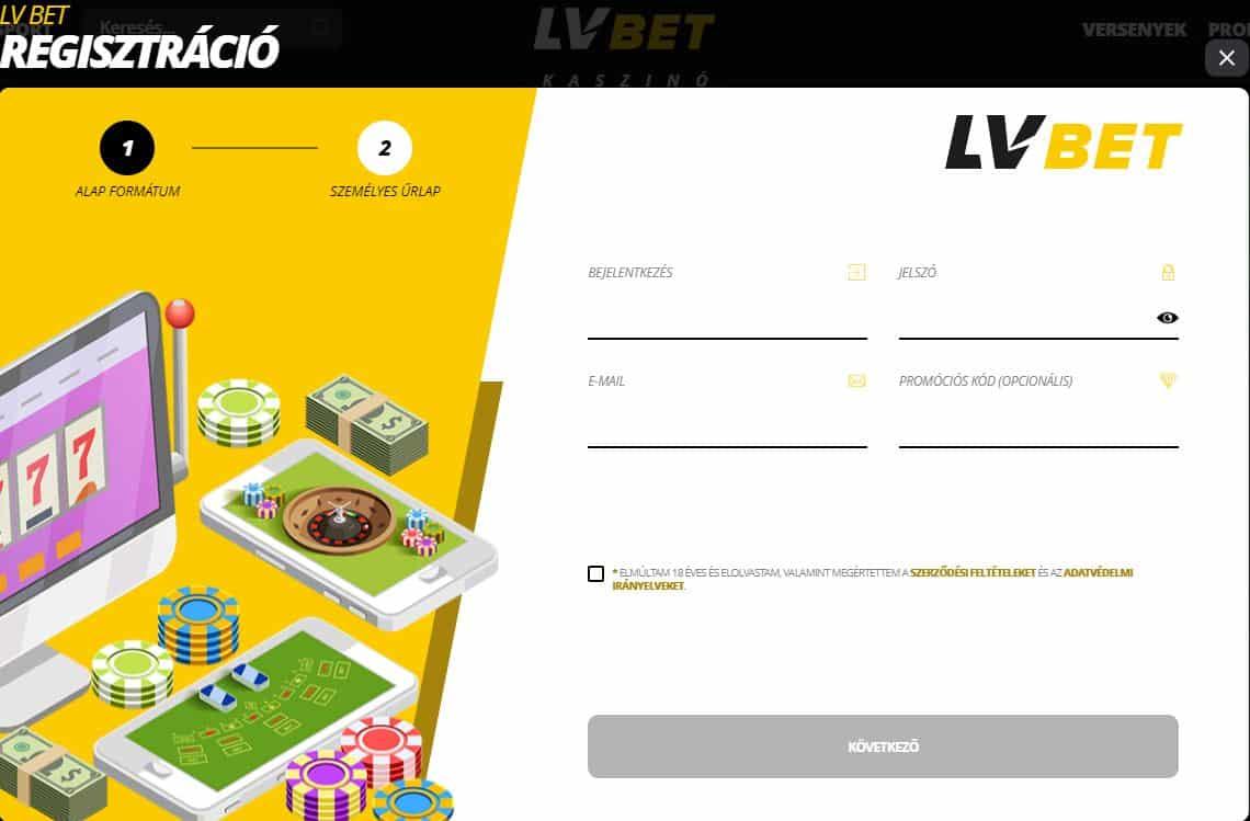 Regisztráció LVBet