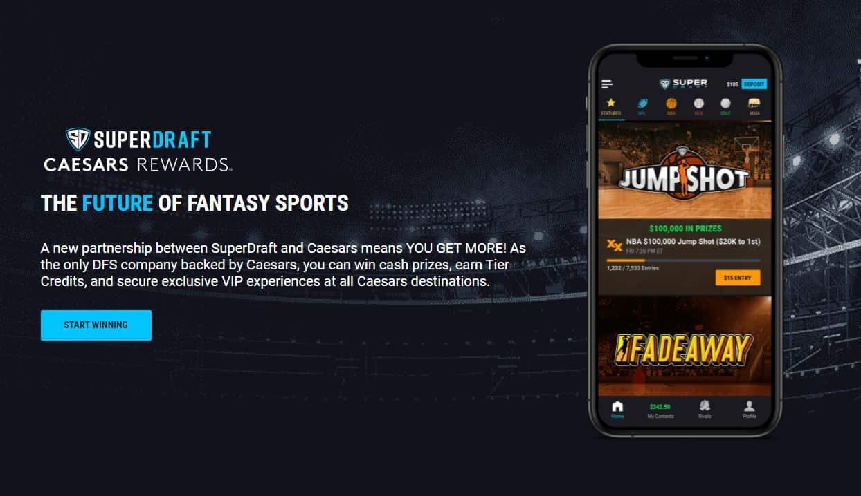 Caesars Sportsbook Promo Code for Superdraft