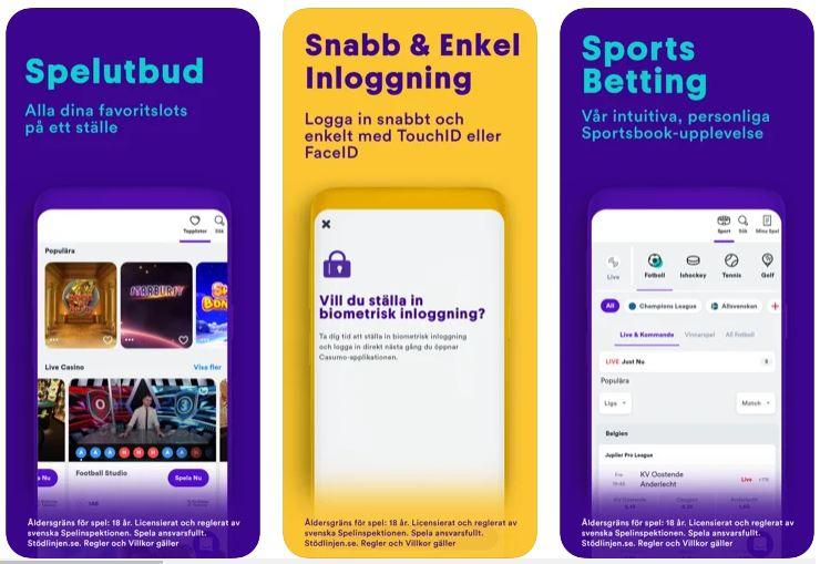 Casumo mobil: Spela på appen