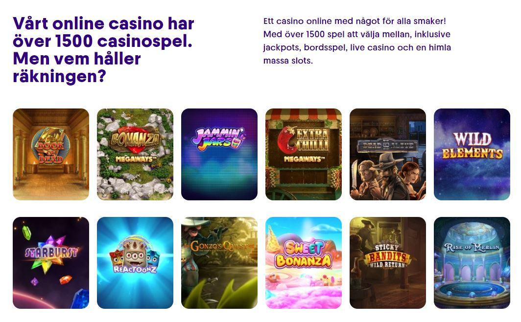 Casumo bonuskod: casinospel