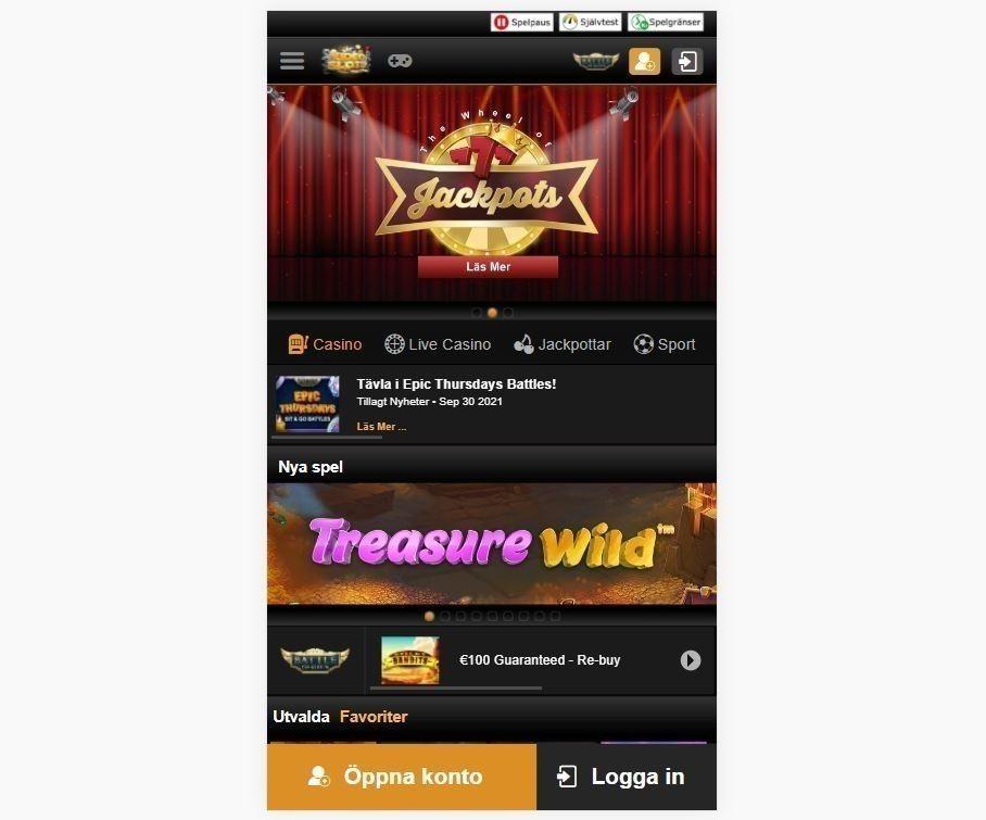 Videoslots mobil app
